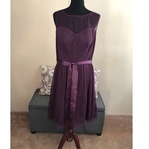 Eliza J Plum Purple Tulle Skirt Party Dress 1X